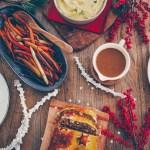 Weihnachtsmenü: Trüffeltofu-Pilz-Maroni-Strudel
