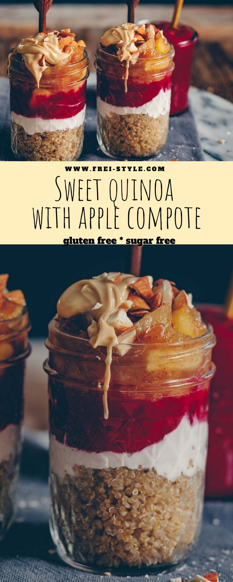 Sweet quinoa with apple compote
