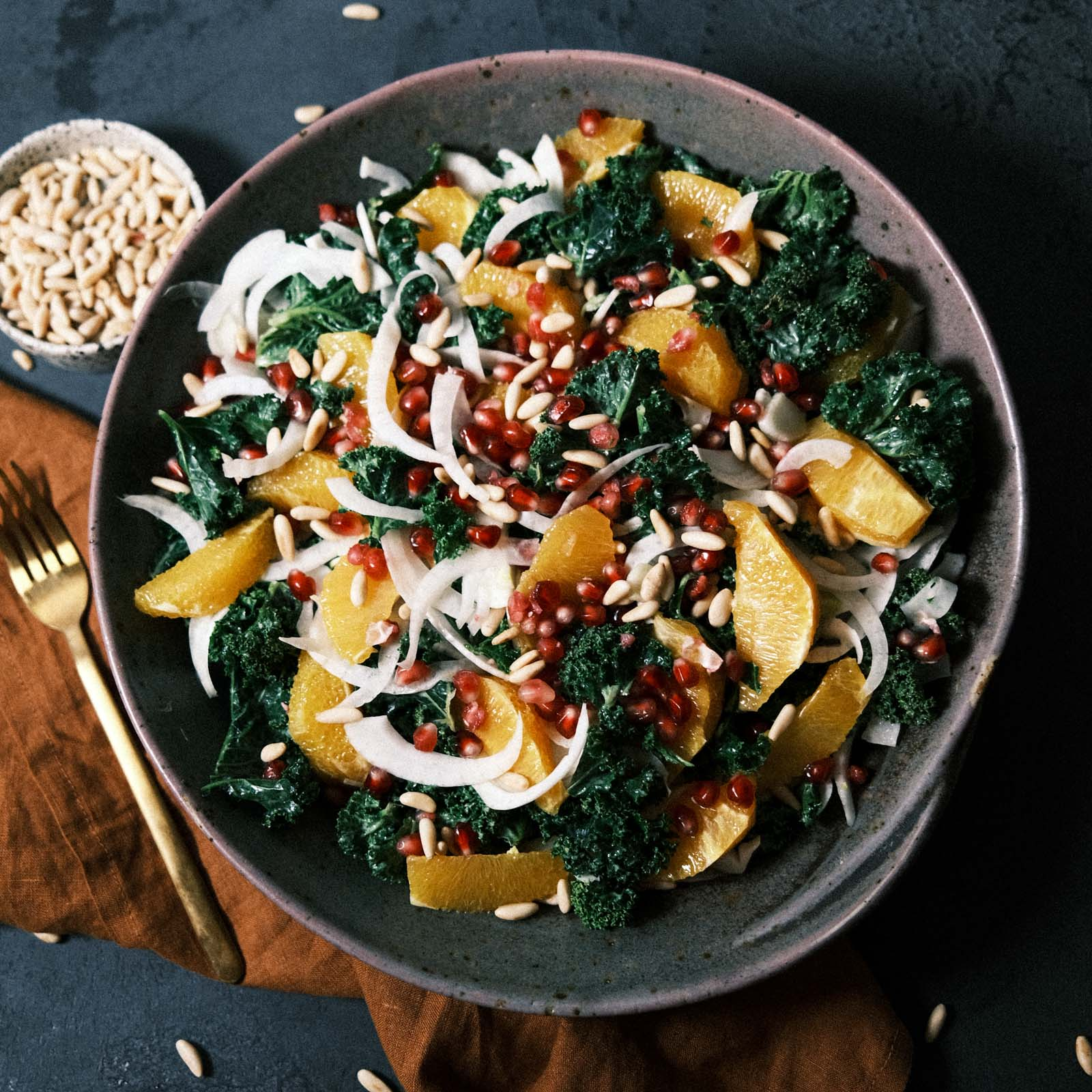 Federkohl Salat