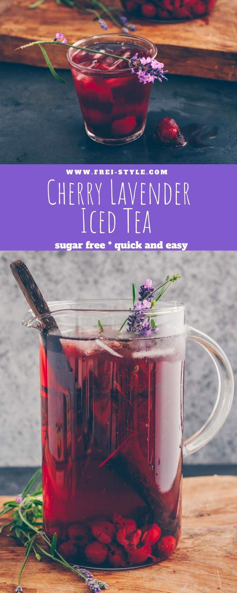 Cherry Lavender iced tea