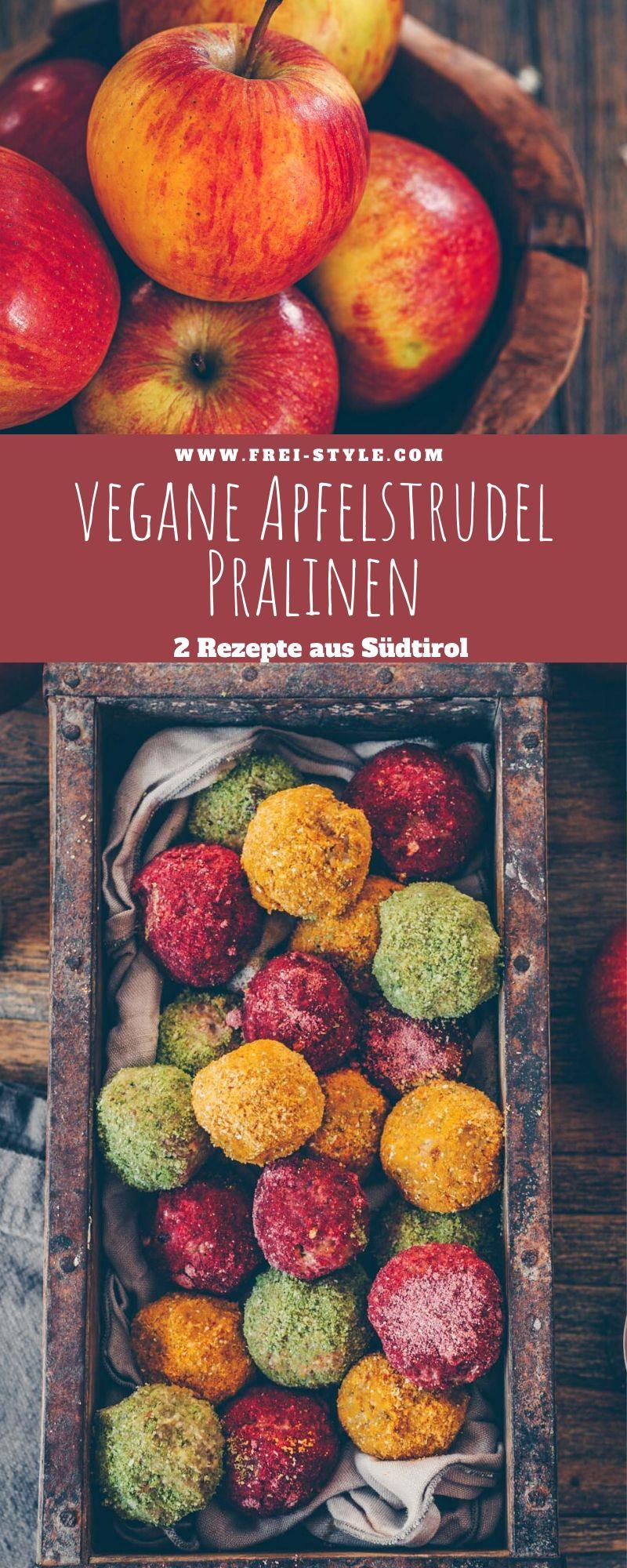 Vegane Apfelstrudelpralinen - 2 Rezepte aus Südtirol
