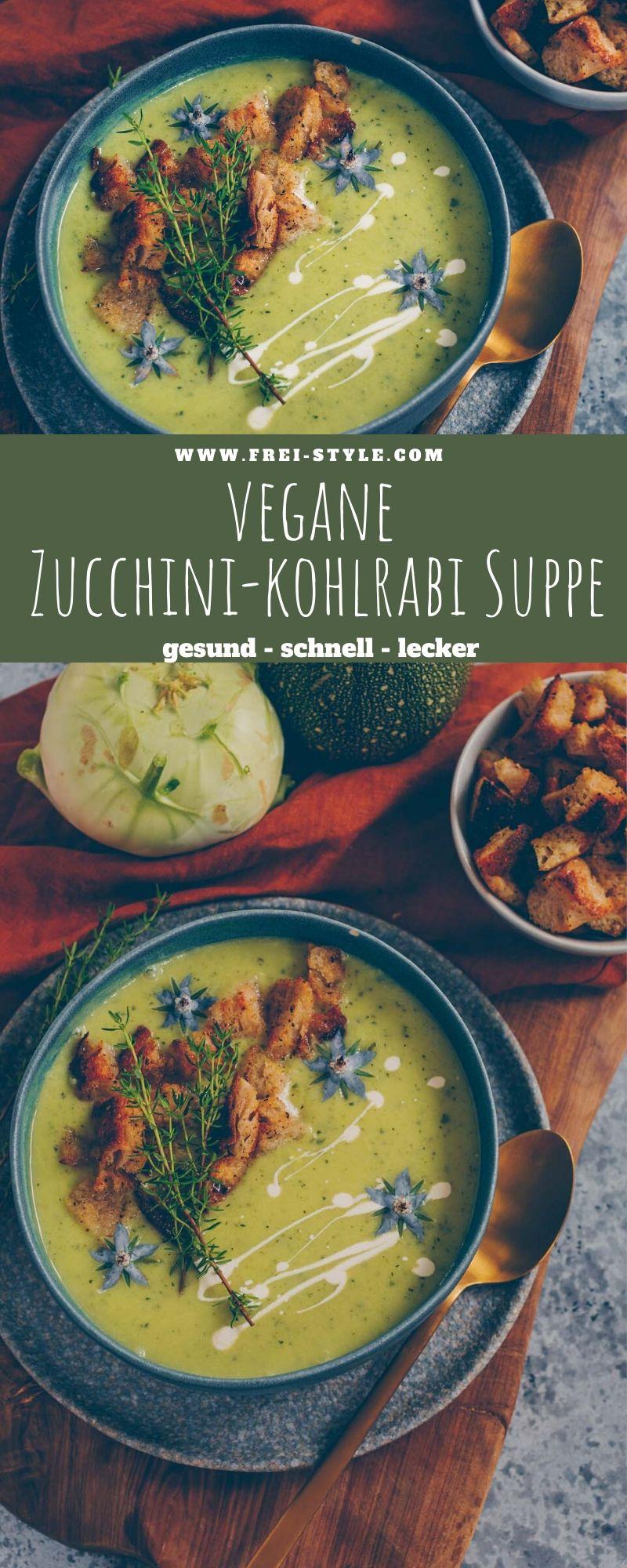 Zucchini-Kohlrabi Suppe