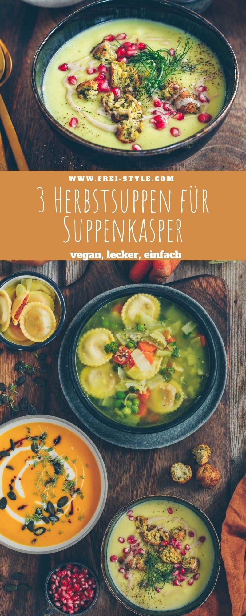 3 Herbstsuppen für Suppenkasper