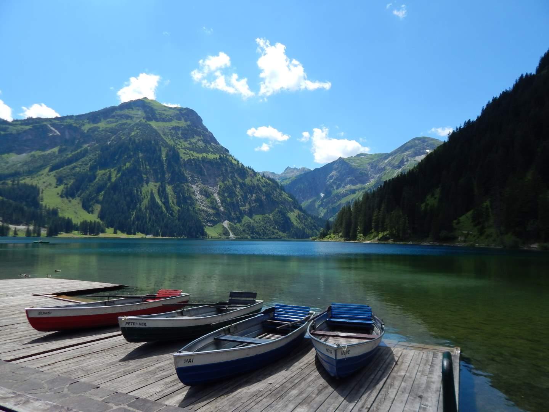 Vilsalpsee und Wasserfall Bergaicht in Tirol