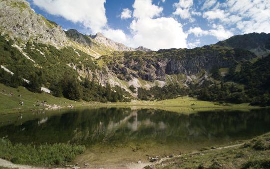 Allgäu Rundwanderung Reichenbach, Gaisalpe, Unterer Gaisalpsee