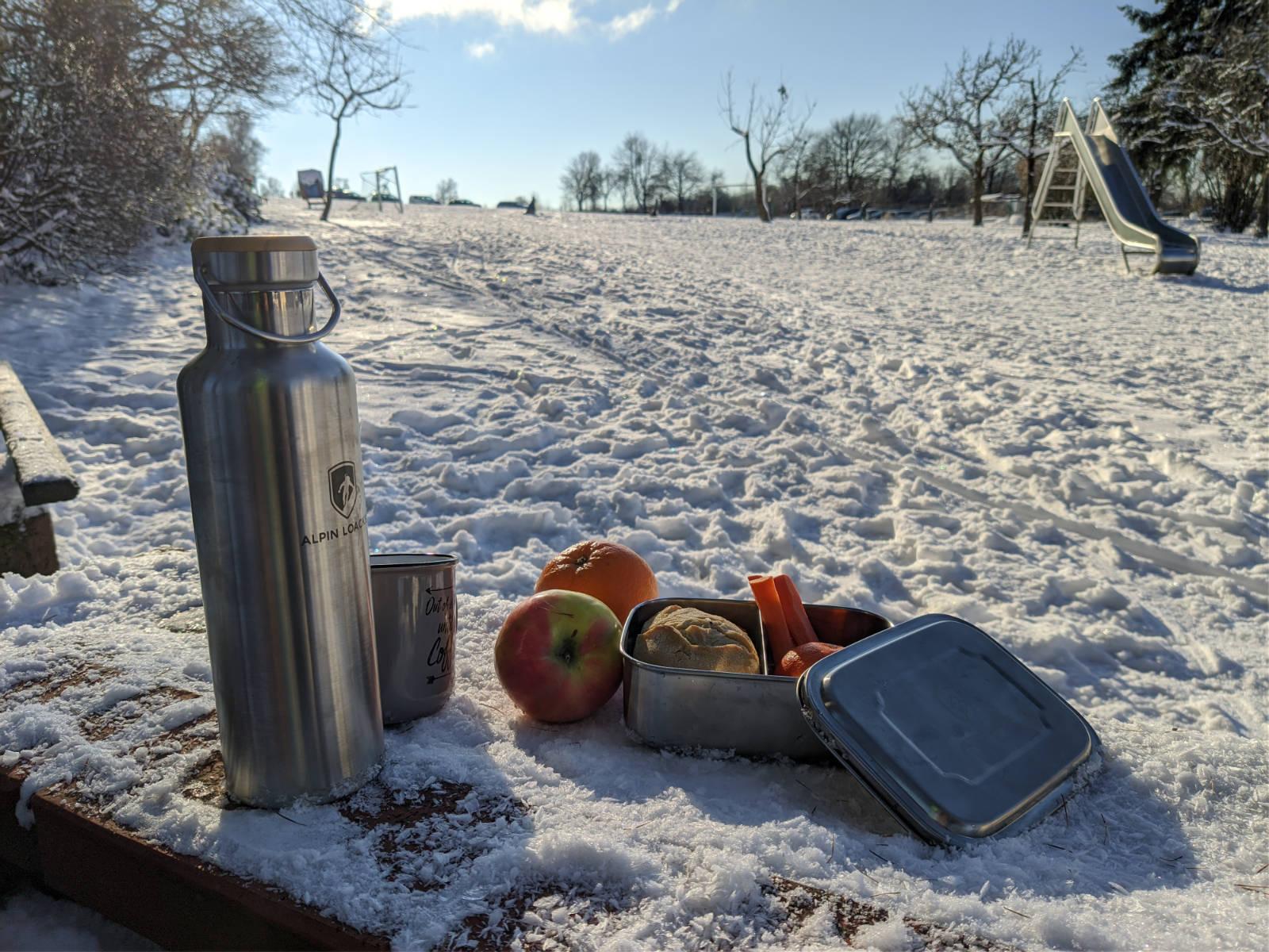 ALPIN LOACKER Edelstahl Lunchbox und Edelstahl Thermosflasche