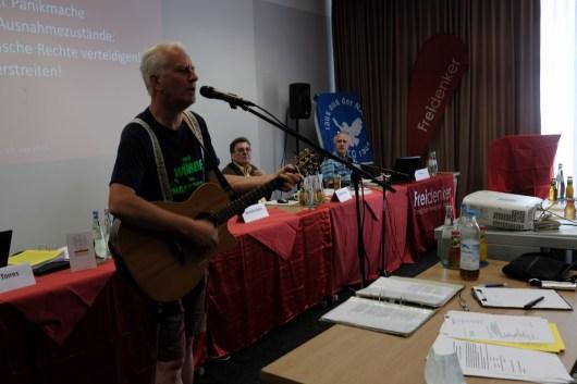 Guy Dawson beim kulturellen Prolog