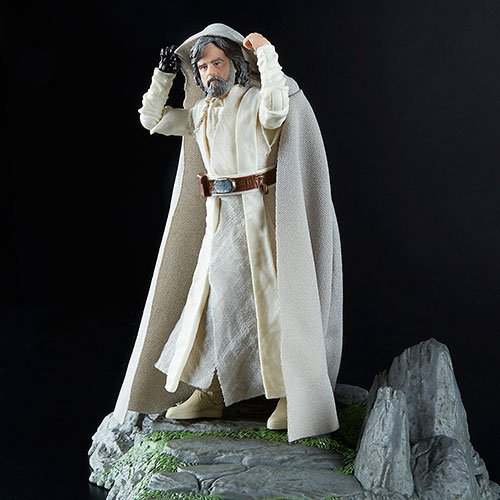 Star Wars Figura de Acción Black Series Deluxe Isla de Ahch-To & Luke Skywalker
