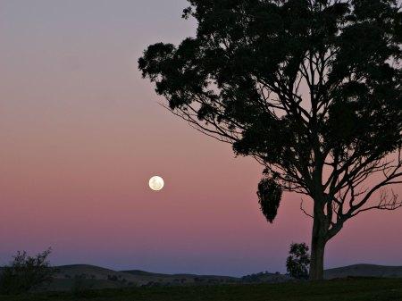 »Moon and red blue haze«. Lizenziert unter GFDL 1.2 über Wikimedia Commons.