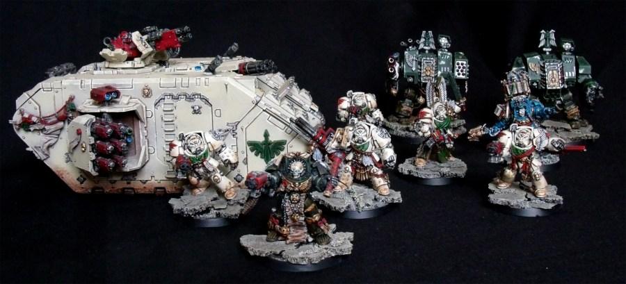 Deathwing, Land Raider, Cybot, Terminatoren