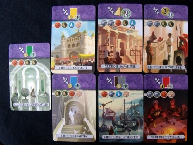 7 Wonders Duel Gilden