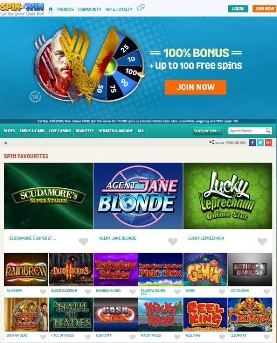 Spin And Win Casino online and mobile