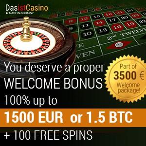 Das Ist Casino 250 free spins + 300% up to €3500 (3.5 btc) free bonus