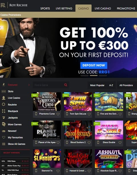 Roy Richie Online Casino