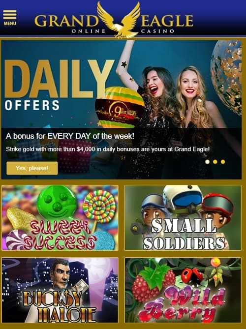 Grand Eagle Casino free spins