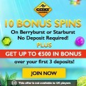 Gday Casino 500 EUR welcome bonus and 60 gratis spins