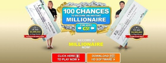 Captain Cooks Casino 100 free chances on Mega Moolah