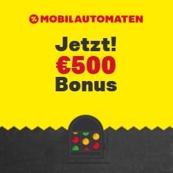 Mobilautomaten Casino €500 gratis oder 200% Willkommensbonus