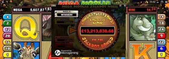 Royal Vegas Casino Mega Moolah jackpot
