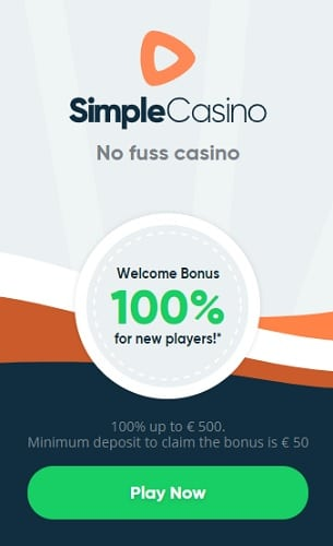 100% up to 500 EUR welcome bonus