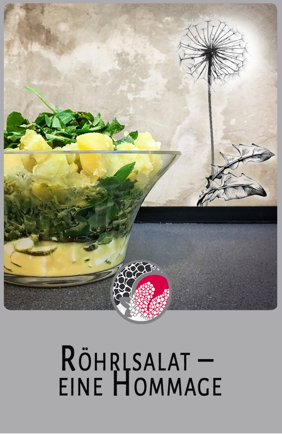 Röhrlsalat, Löwenzahn Salat, Löwenzahnsalt, dandelion, salad