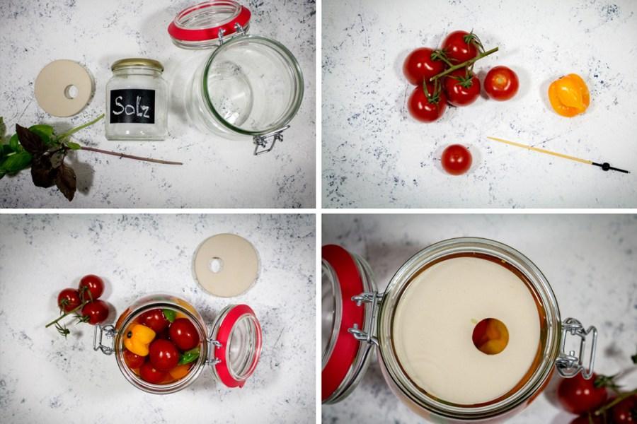 Fermentierte Tomaten, Fermentierte Paradeiser