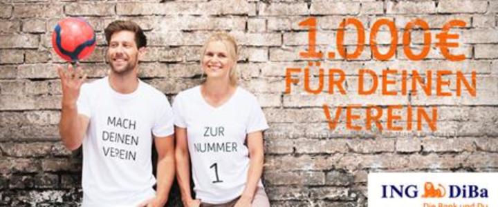 Dein Verein und Du – 1.000€ für den Förderverein