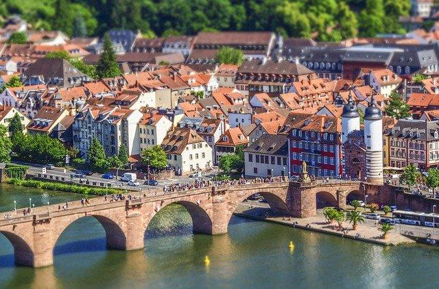 Heidelberg Neckar und alte Brücke
