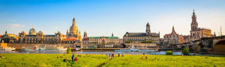 Klassenfahrt Dresden Elbansicht