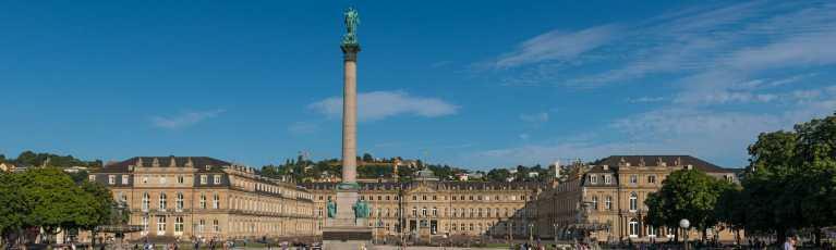 Klassenfahrt Stuttgart Schlossplatz Neues Schloss