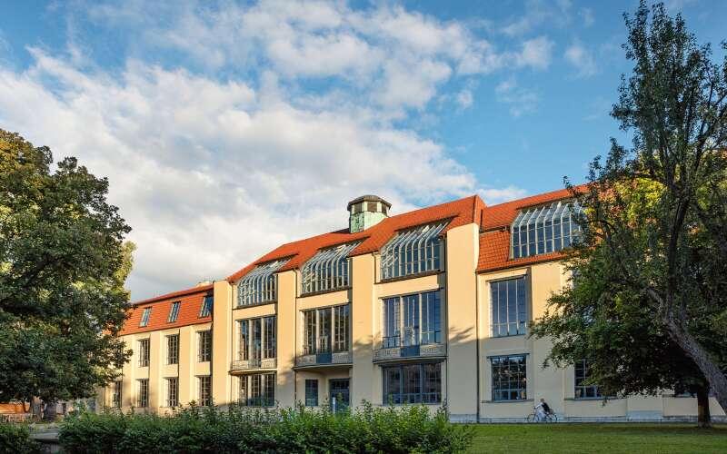 Klassenfahrt Weimar Bauhaus Fassade