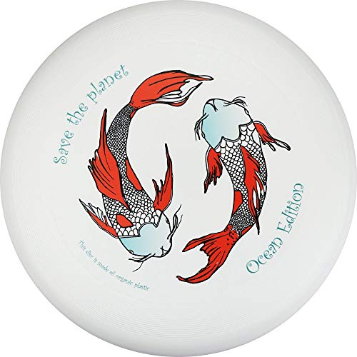 Eurodisc 175g 4.0 Ultimate Frisbee Disc Wettkampf-Wurf-Scheibe Bio-Kunststoff stabile Flugbahn über 100 Meter, Design Motiv Foto Bild Save The Planet Kois, Ocean Ozean Edition