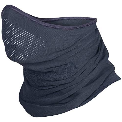 BRUBECK X-Pro Halbe Sturmhaube   Herren   Damen   Klimaregulierend   Gesichtsmaske   Sturmmaske   Funktionskleidung   Atmungsaktiv   Anti-allergisch   Antibakteriell (Dunkelgrau, S - M)