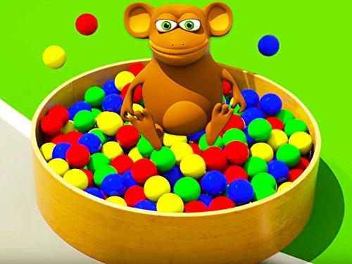 Farben lernen zusammen mit lustigem Affen