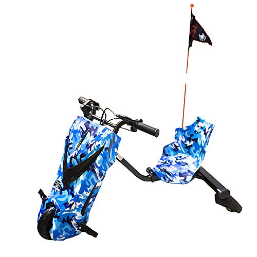 Gran Scooter Boogie Drift 36D Roller mit Sattel (250 W, Lithiumbatterie, 3 Geschwindigkeiten, Höchstgeschwindigkeit 15 km, Frontlicht, LCD-Bildschirm) - Blau