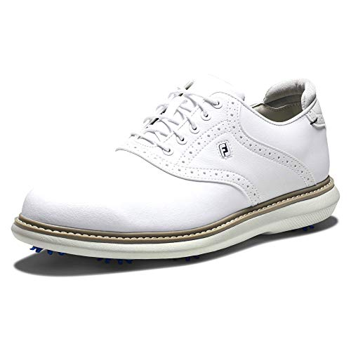 Footjoy Herren Traditions Golfschuh, weiß, 42 EU