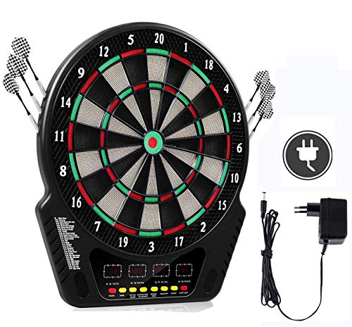 Oppikle Elektronische Dartscheibe - E Dart Scheibe e dartboards dartautomat mit 6 Dartpfeile - 27 Spielen und 243 Varianten für 16 Spiele