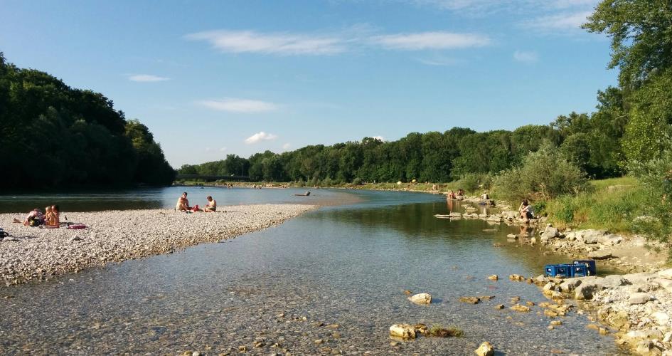 Die Isar in München - mehr Freizeit geht nicht
