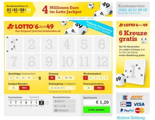 Lotto Spielschein