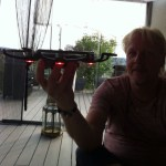DJI Spark Drone lights on