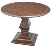59300 Pedestal Round End Table