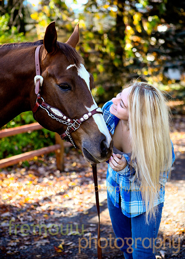 High school senior and her horse  high school senior