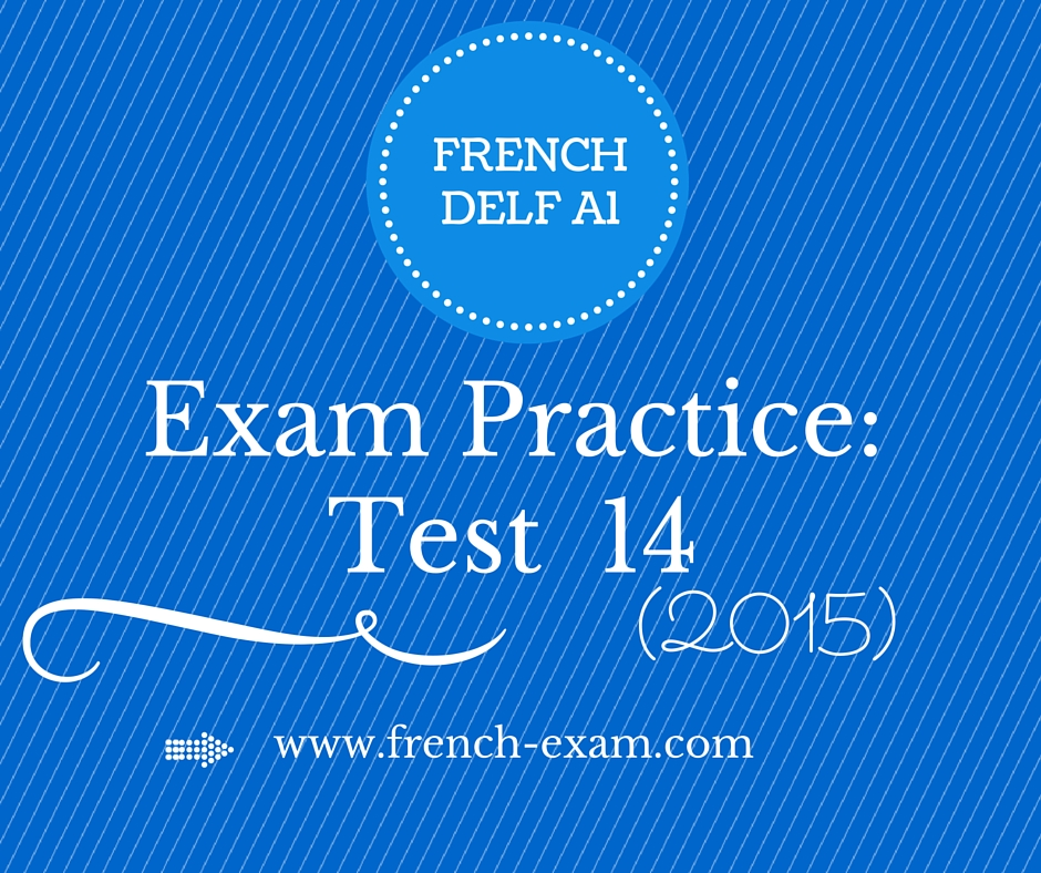 French delf a1 exam speaking preparation production orale.