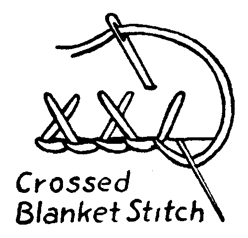 Crossed Blanket Stitch Embroidery How-To