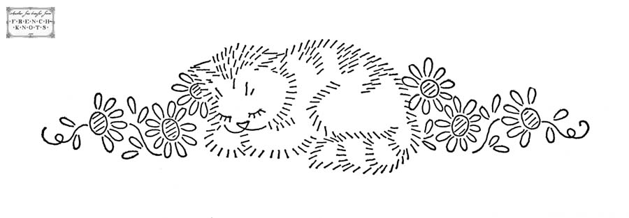 Cats Embroidery Transfer Patterns