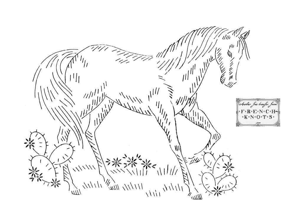 HORSE EMBROIDERY PATTERN « EMBROIDERY & ORIGAMI