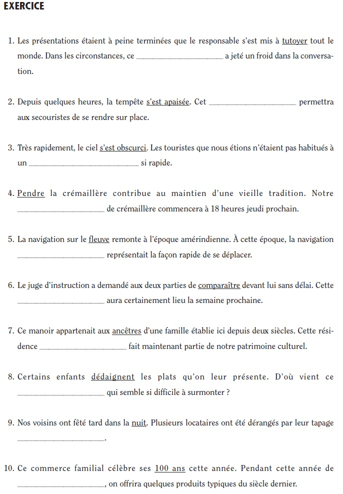 French_Vocabulary_Exercise_2