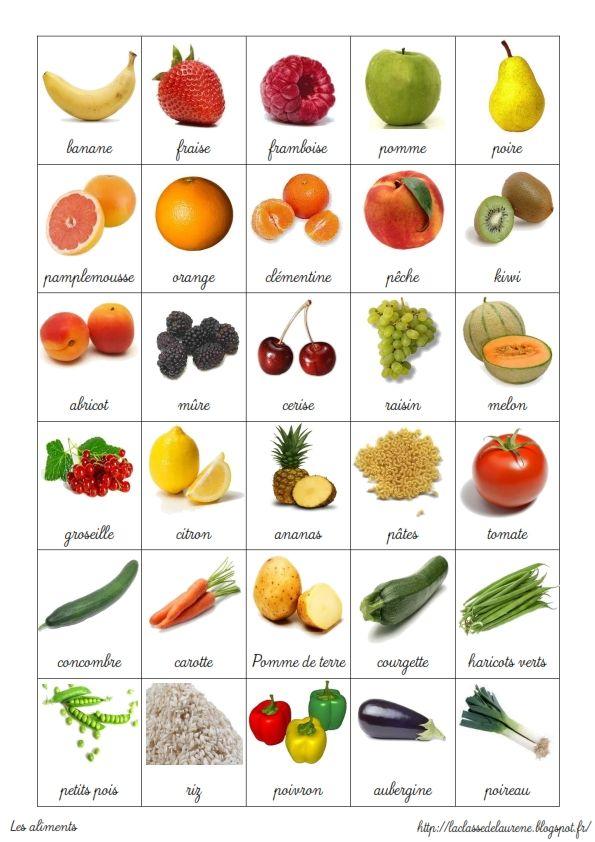 aliments en francais