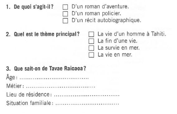 French reading practice B1