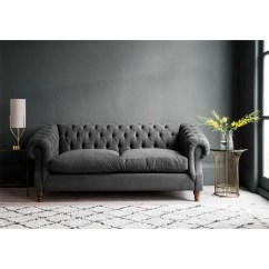 Chesterfield Sofa Bed Slide Out Beds Sleepy Sunday In Steel Grey